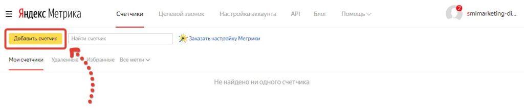 Создание счетчика Яндекс Метрики